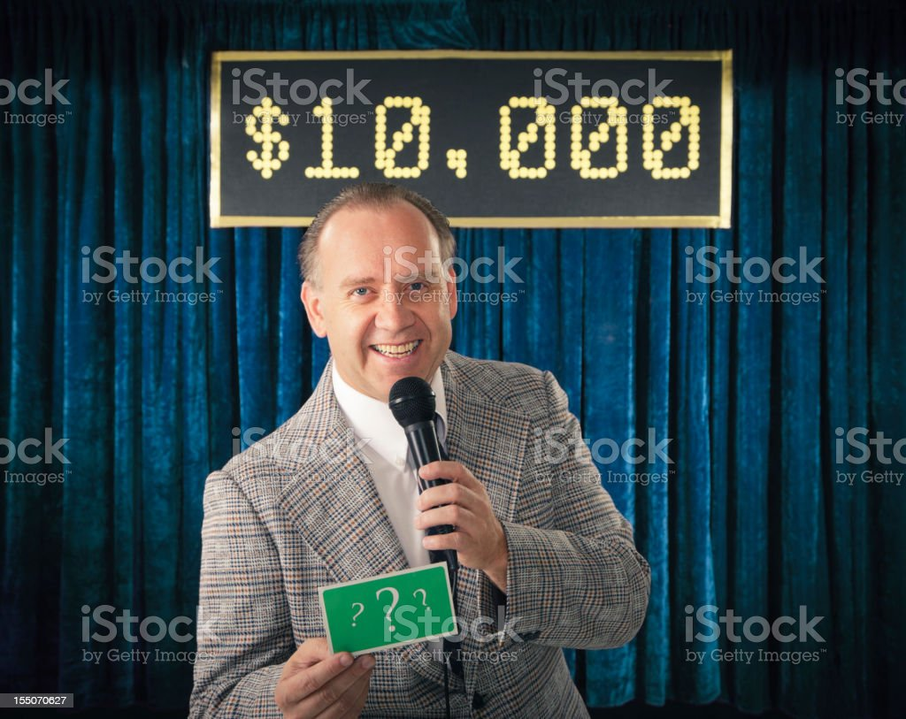 Vintage Game Show Host stock photo