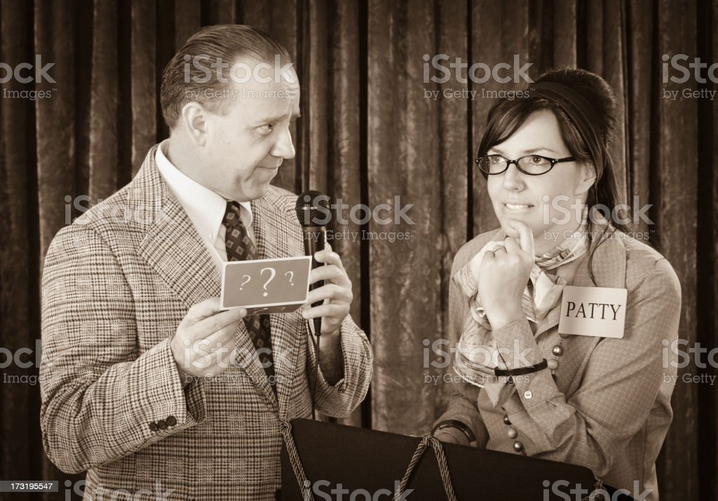 Vintage Game Show royalty-free stock photo