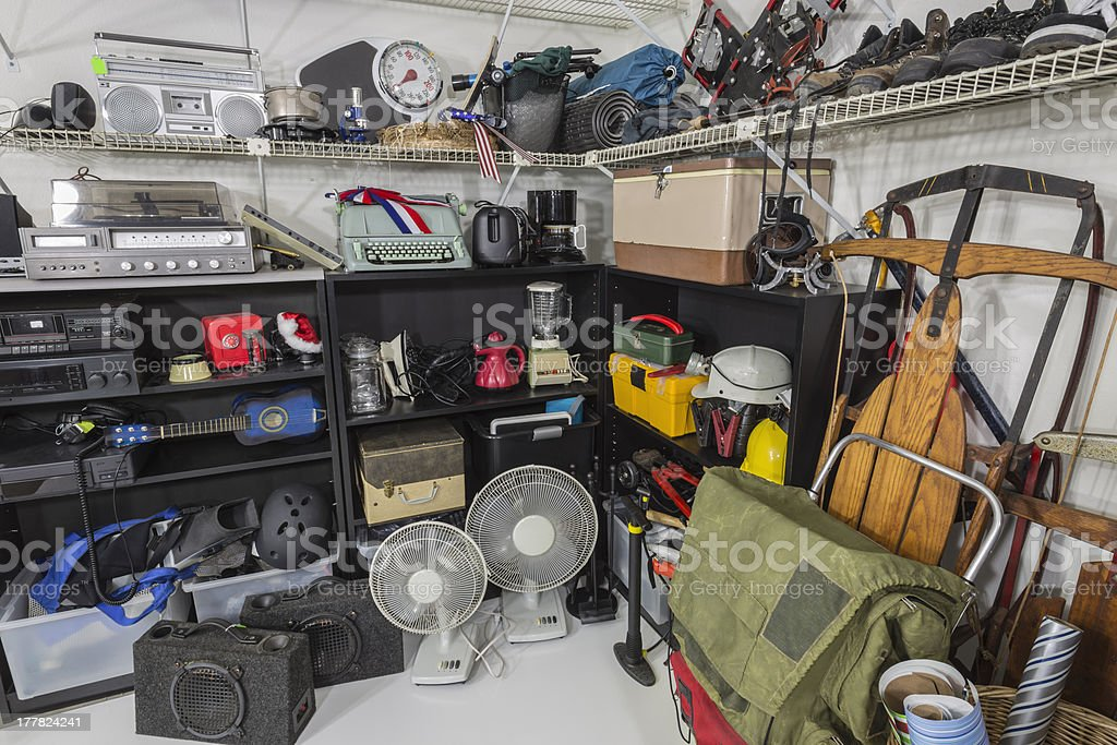 Vintage Garage Sale Corner stock photo