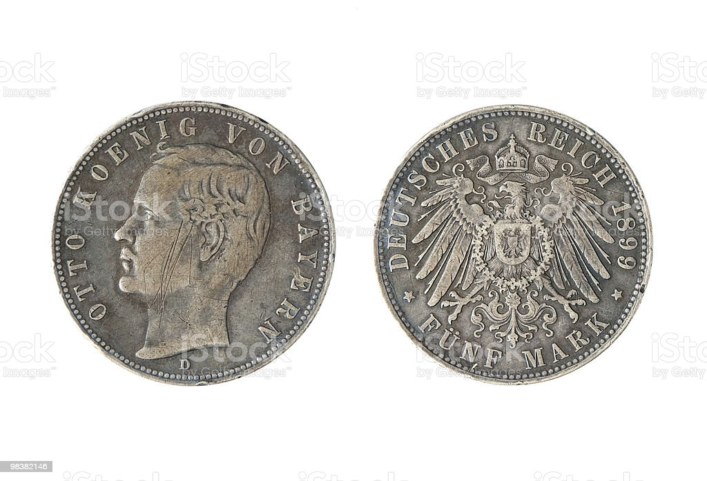 Vintage German Coin royalty-free stock photo