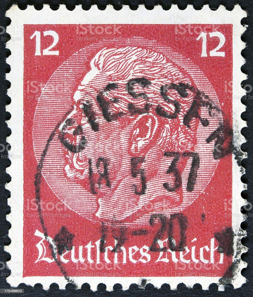 Vintage German Postage Stamp royalty-free stock photo
