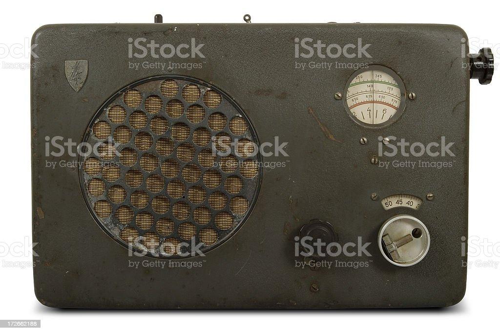 Vintage German radio stock photo