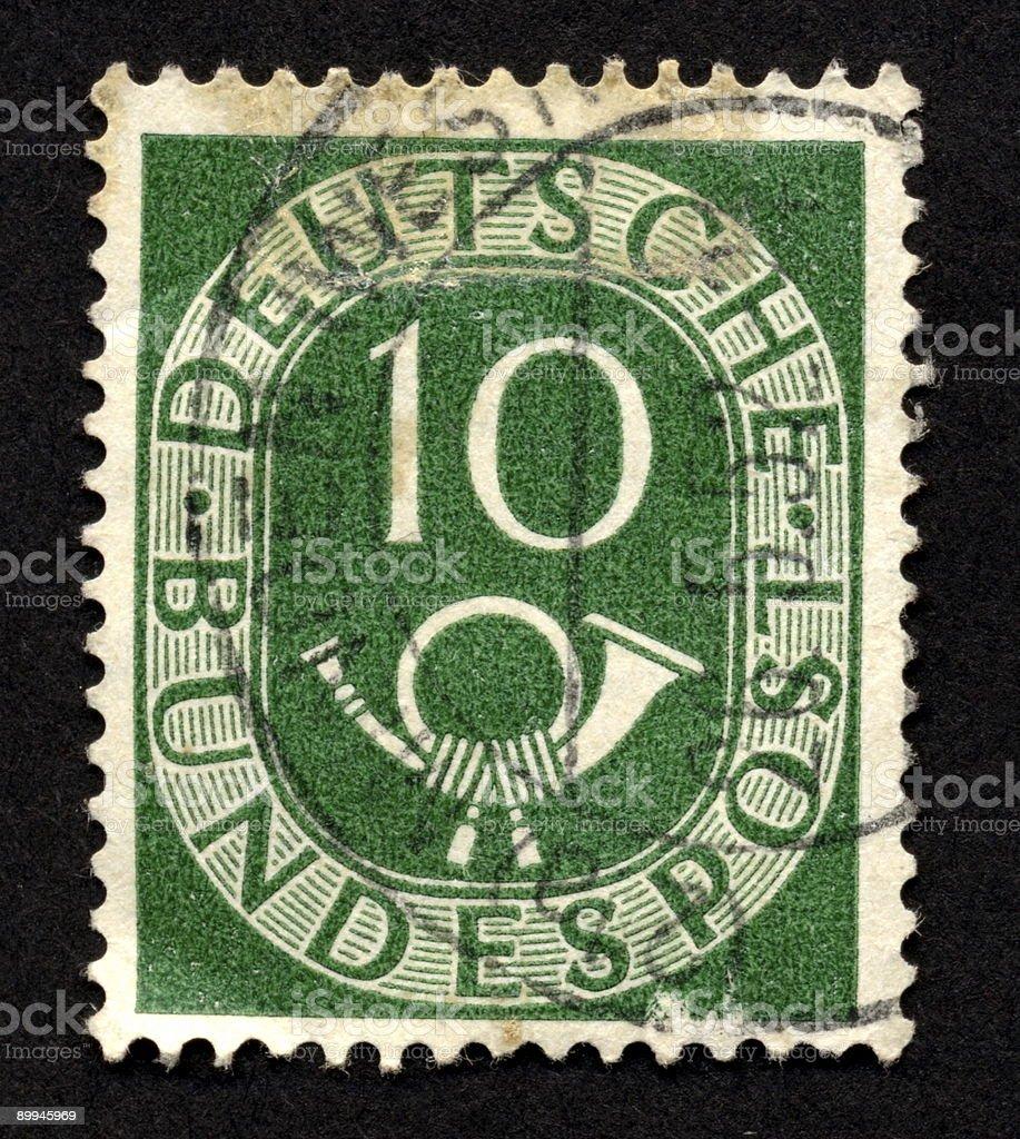 Vintage German Stamp, Ephemera. stock photo