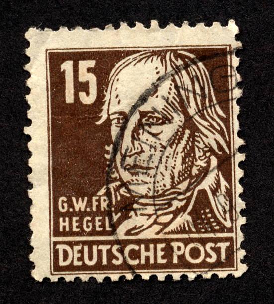 vintage deutsche stempel, ephemera. - friedrich hegel stock-fotos und bilder