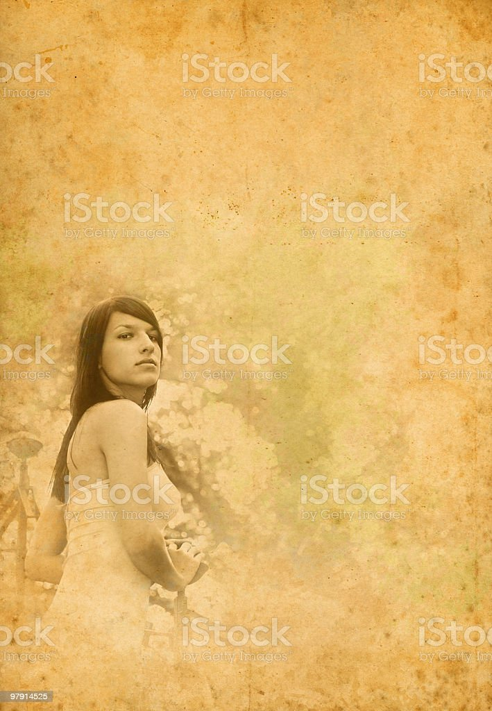 vintage girl portrait royalty-free stock photo