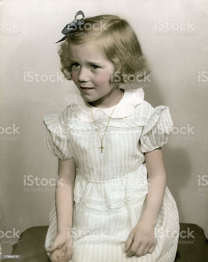 Vintage Girl   View images from same session royalty-free stock photo