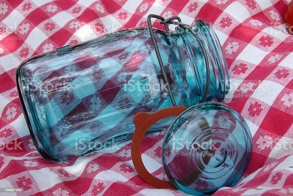Vintage Glass Canning Jar royalty-free stock photo
