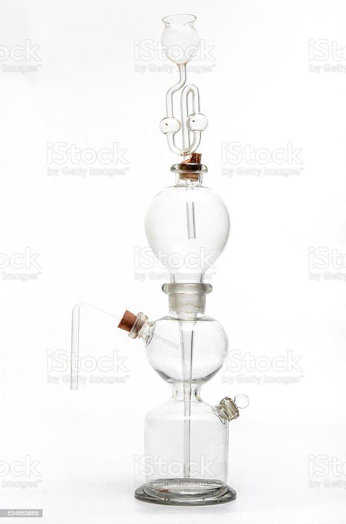 Vintage distiller de vidrio química - foto de stock