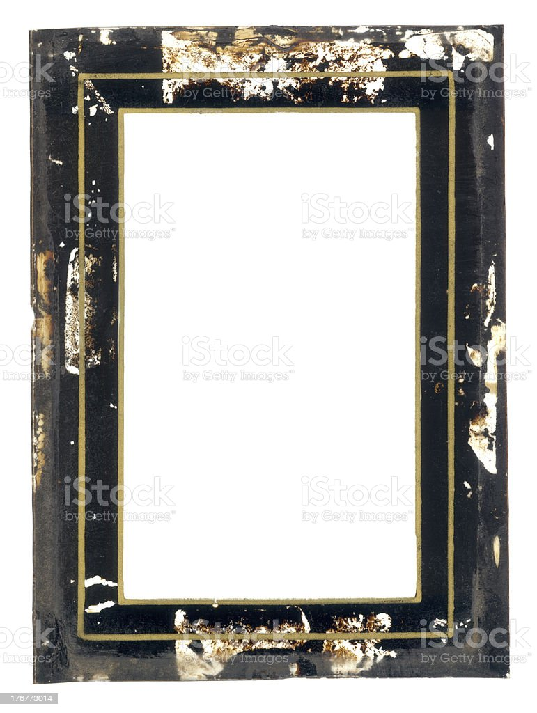Vintage Glass Gilded Empty Frame royalty-free stock photo