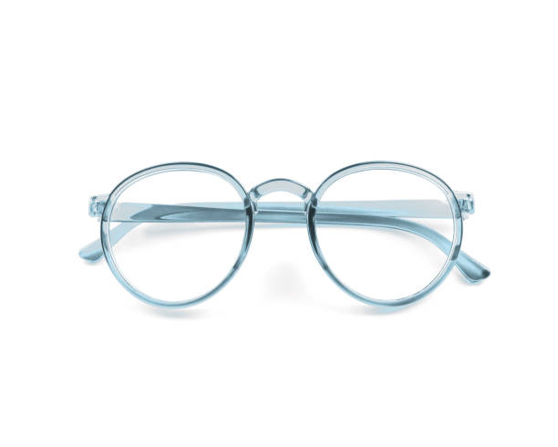vintage glasses isolated on white - spectacles stock photos and pictures