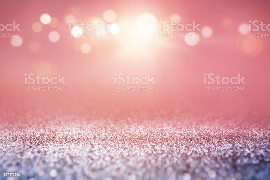 Vintage glitter lights bokeh background. stock photo