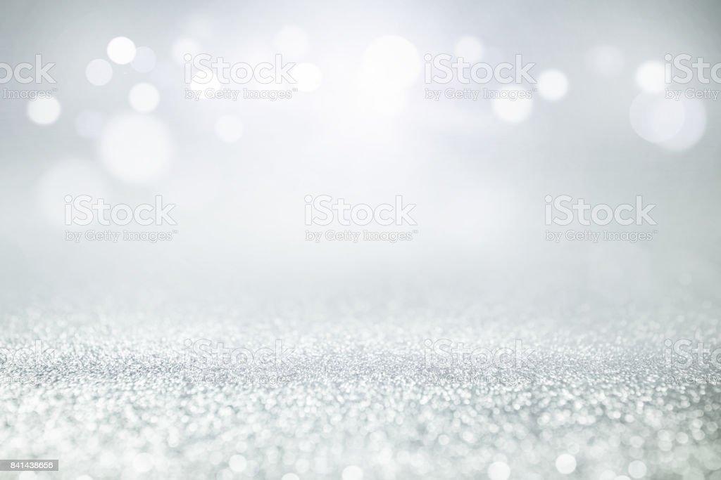 Vintage glitter lights bokeh background. stock photo