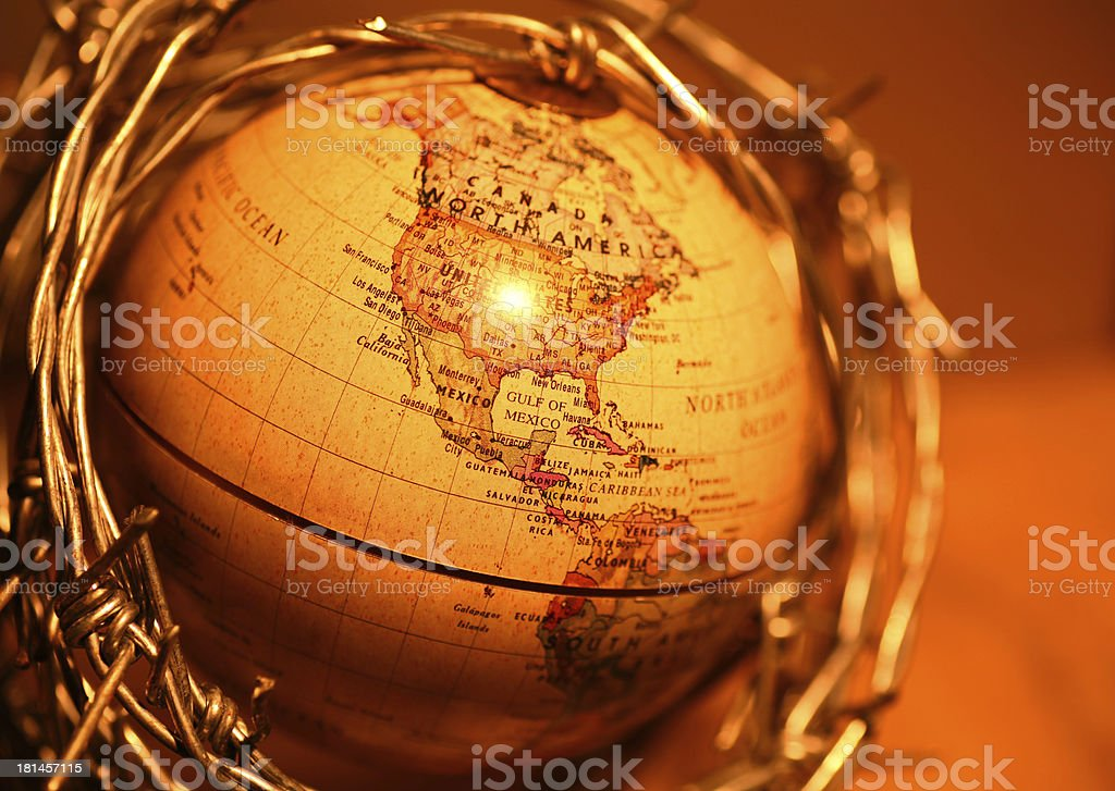Vintage Globe royalty-free stock photo
