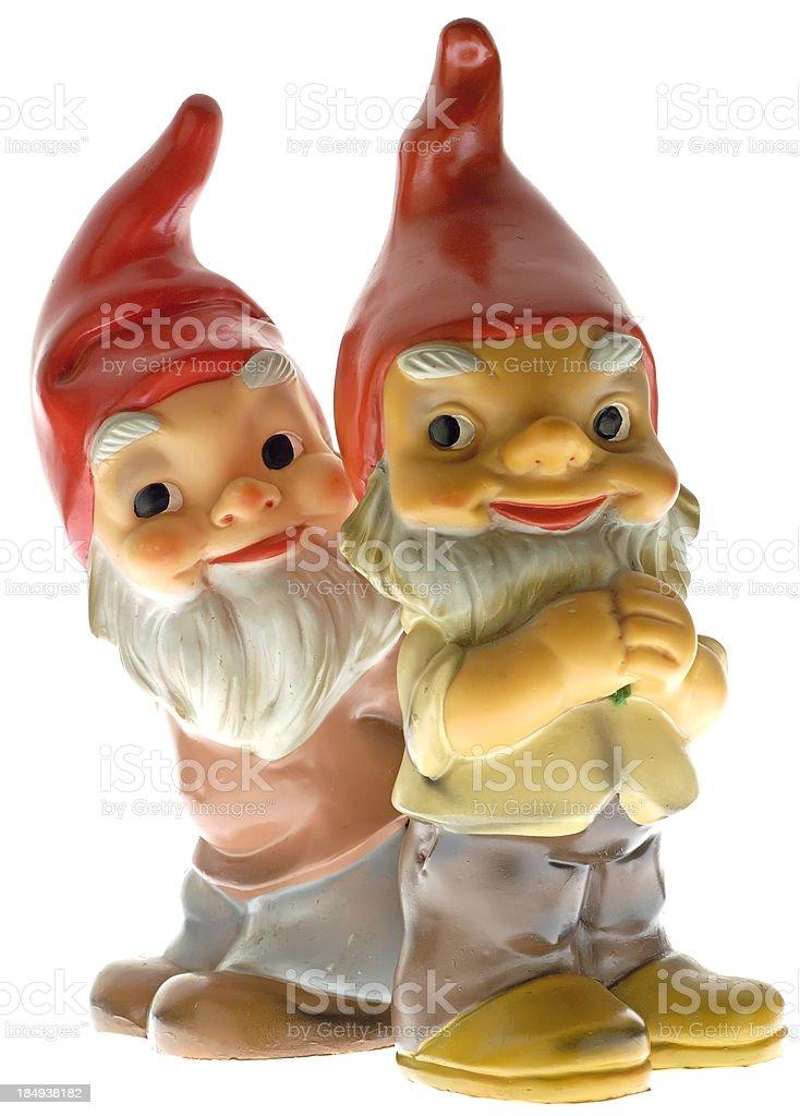 Vintage Gnomes royalty-free stock photo