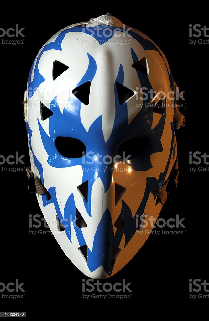Vintage goalie mask stock photo