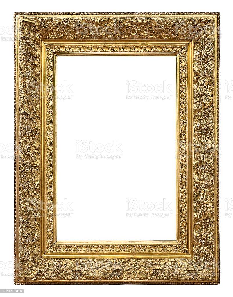 Farbe Vintage Gold Bilderrahmen - Stockfoto | iStock