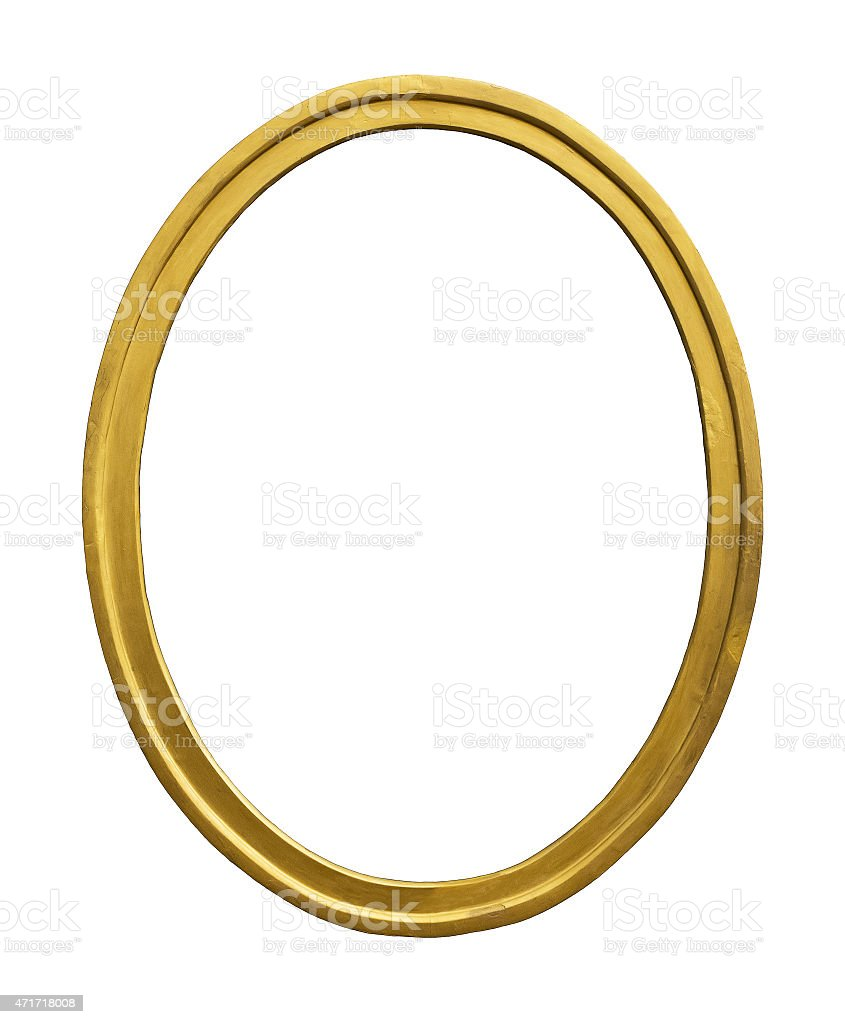 Vintage gold color picture frame stock photo