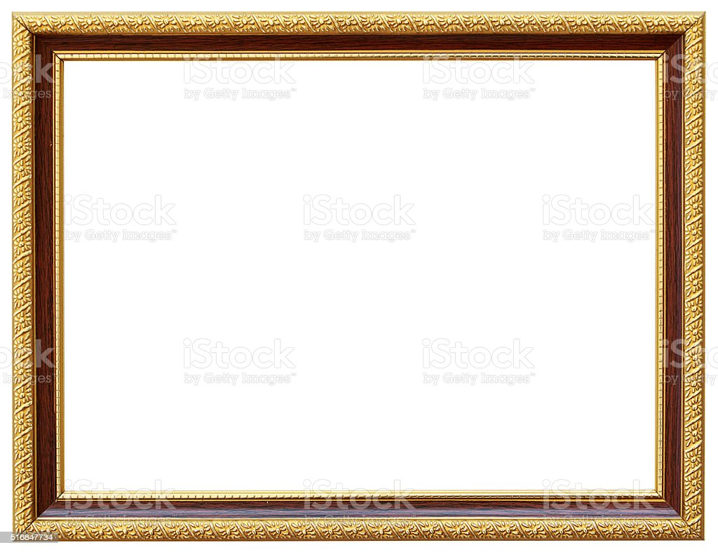 Vintage Gold Frame Design With Thin Borders Royalty Free Stock Photo