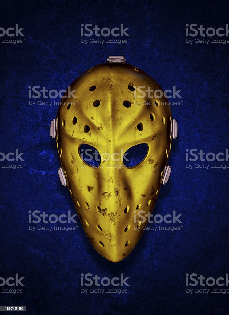 Vintage Gold Goalie Mask royalty-free stock photo