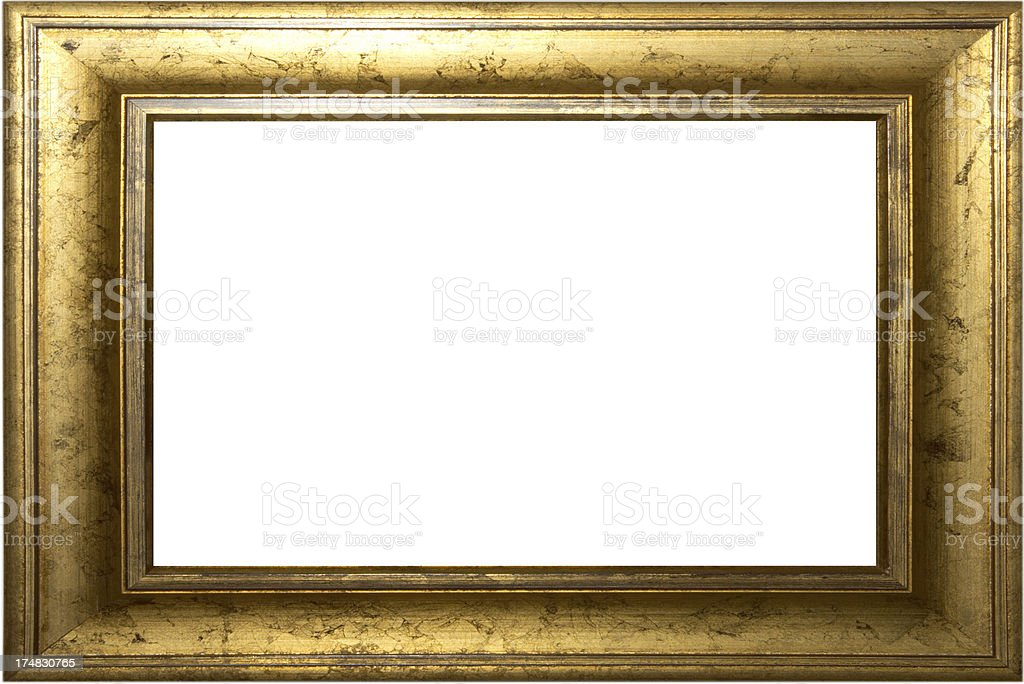 vintage gold picture frame stock photo