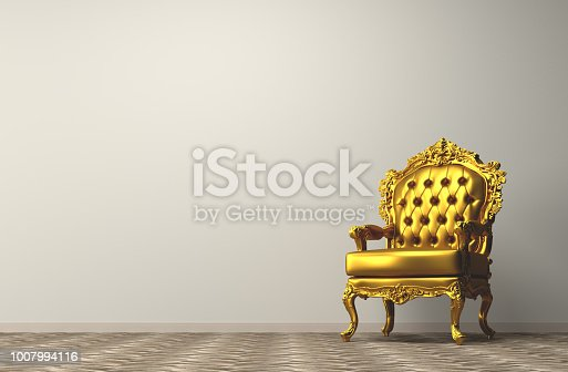 Vintage golden armchair