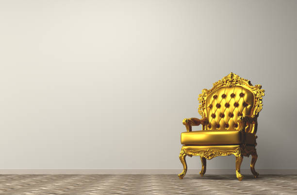 Vintage golden armchair Vintage golden armchair royalty stock pictures, royalty-free photos & images