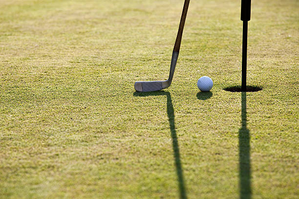 Vintage Golf Club And Ball Stock Photo