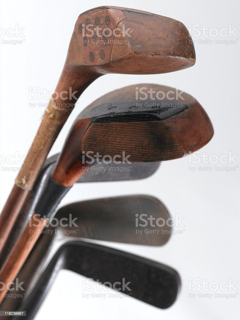 Vintage Golf Clubs stock photo