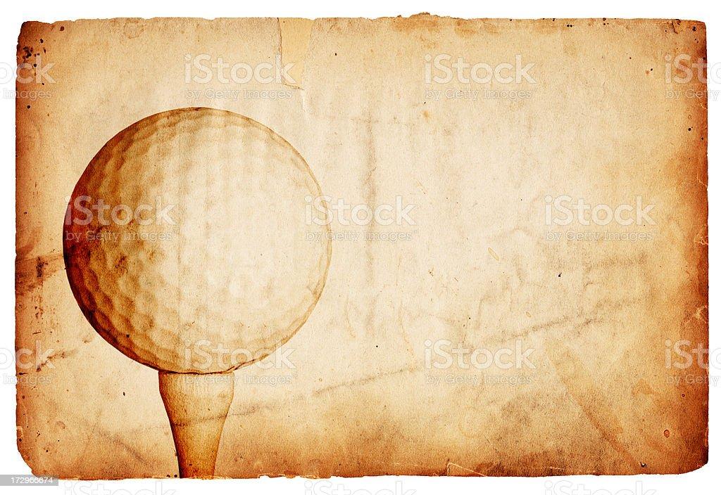 Vintage Golf Paper XXXL royalty-free stock photo