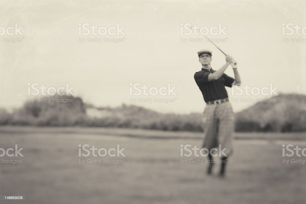 Vintage Golf stock photo