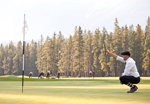 vintage-golfer mit plus fours - die wilden 20er stock-fotos und bilder