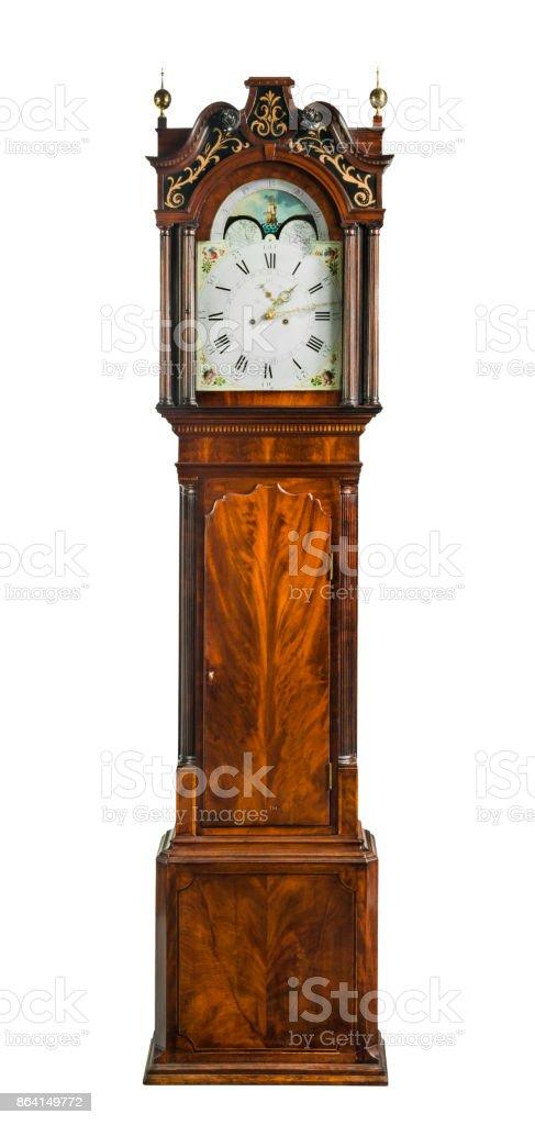 Vintage grandfather clock royalty-free stock photo