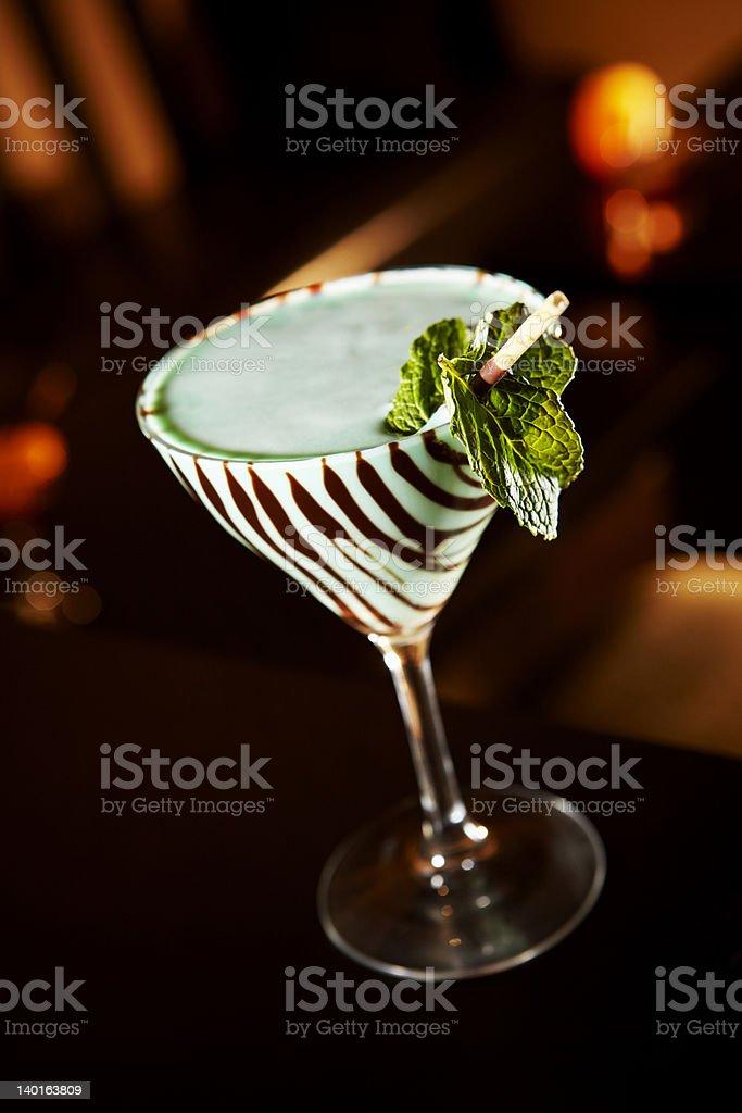 Vintage Grasshopper Martini royalty-free stock photo