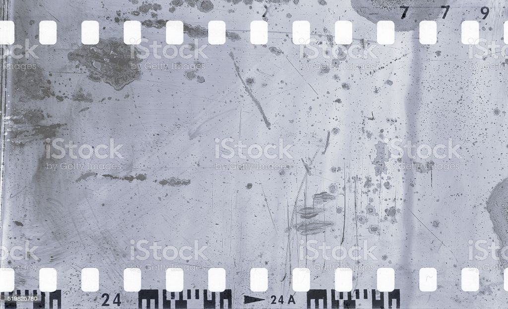 Vintage gray film strip frame background. stock photo