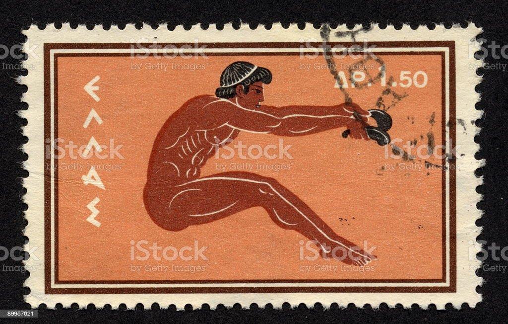 Vintage Greek Stamp 1960, Ephemera. royalty-free stock photo