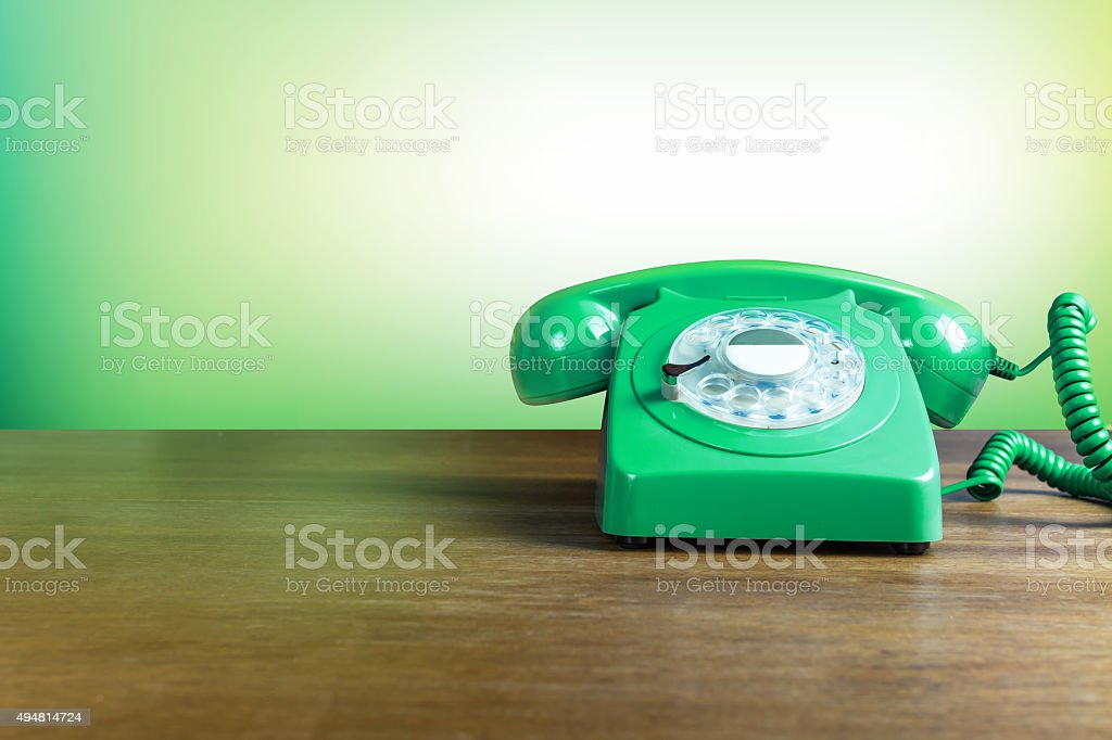 Vintage Green Phone stock photo