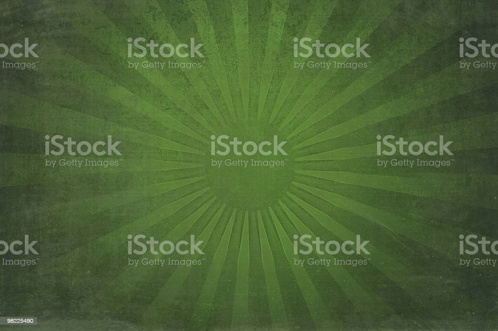 Vintage Green Sun Rays XXL royalty-free stock photo