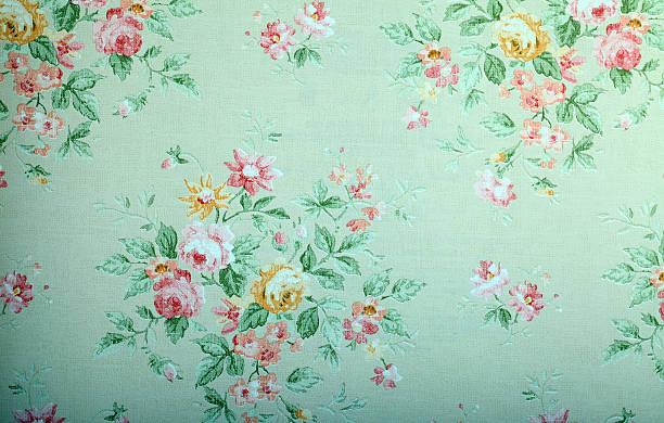 Verde Vintage sfondo con motivo floreale - foto stock