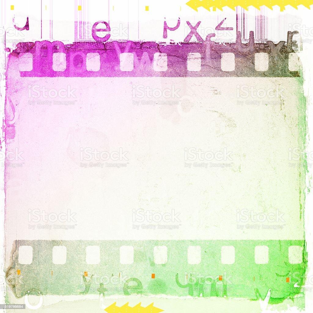 Jahrgang Grün Weiß Und Magentafarbener Filmstreifen Rahmen ...