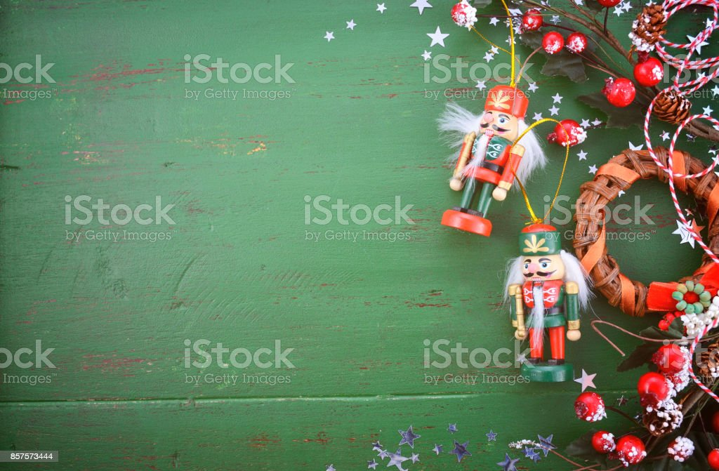 Christmas In Australia Background.Vintage Green Wood Christmas Holiday Background Stock Photo Download Image Now