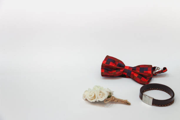 vintage groom accessories stock photo