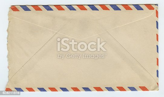 istock Vintage Grunge Air Mail Letter Envelope 628211516