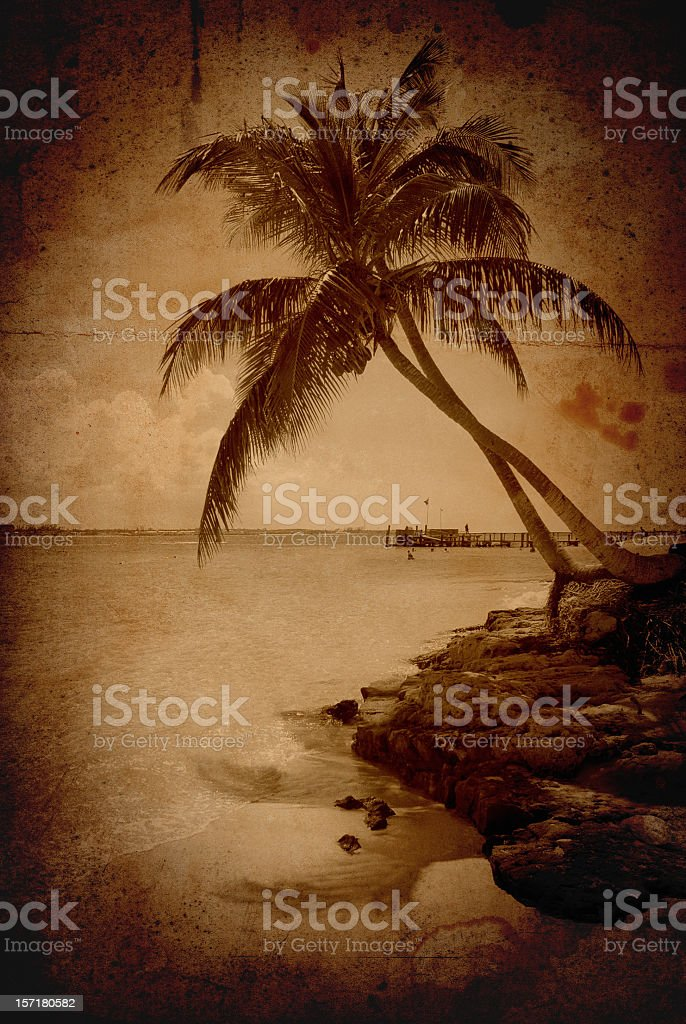 vintage grunge beach royalty-free stock photo