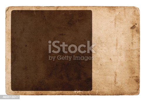 1129542015 istock photo vintage grunge card board isolated on white 465513017