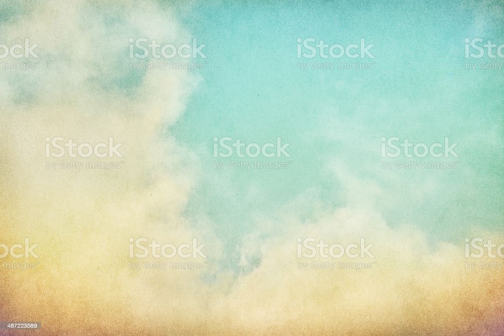 Vintage Grunge Clouds stock photo