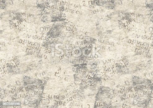 istock Vintage grunge newspaper collage background 962588596