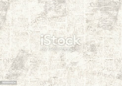 istock Vintage grunge newspaper collage background 995684826