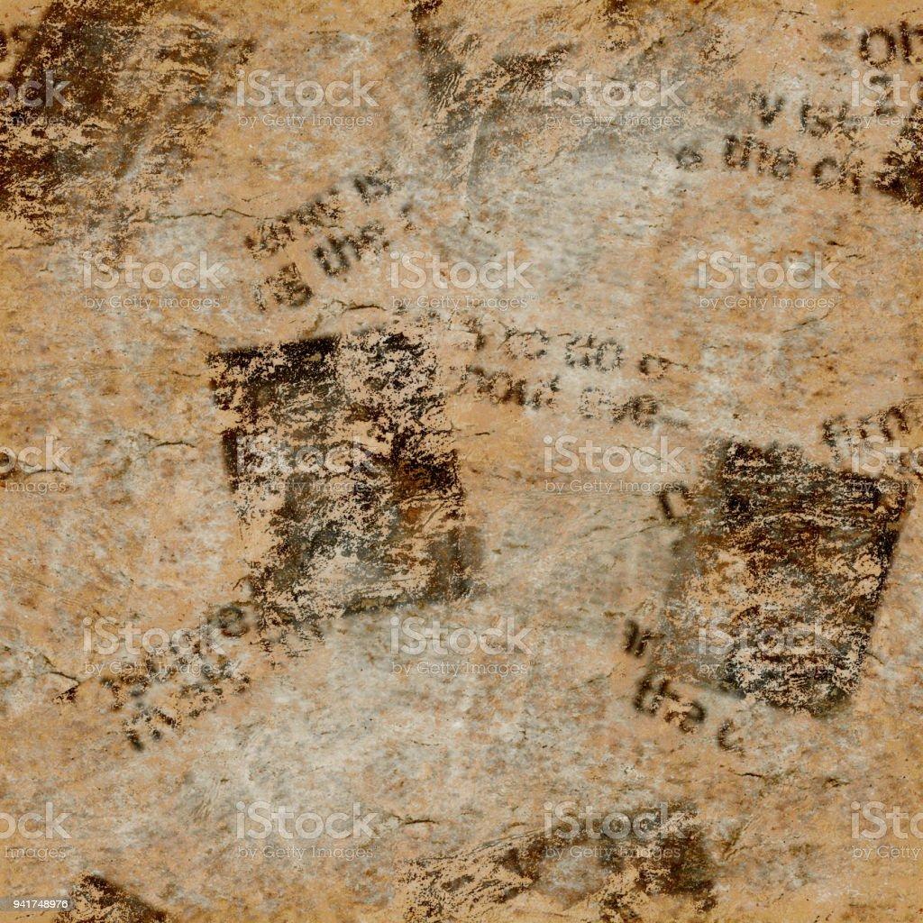 Vintage Grunge Newspaper Collage Texture Background Stock Photo