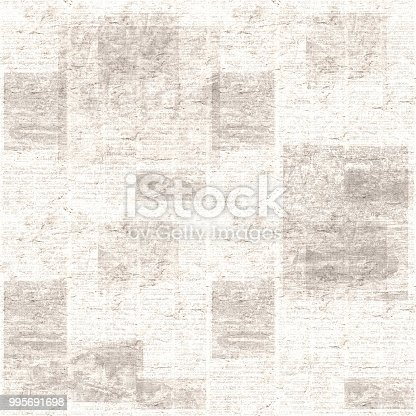 istock Vintage grunge newspaper collage texture background 995691698
