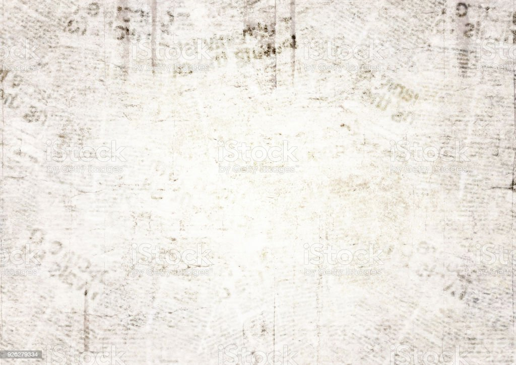 Vintage grunge newspaper texture background - foto stock